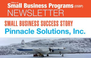 OSBP Newsletter - Small Business Success Story - Pinnacle Solutions, Inc. - Cover