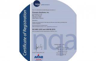 AS9100D Certificate