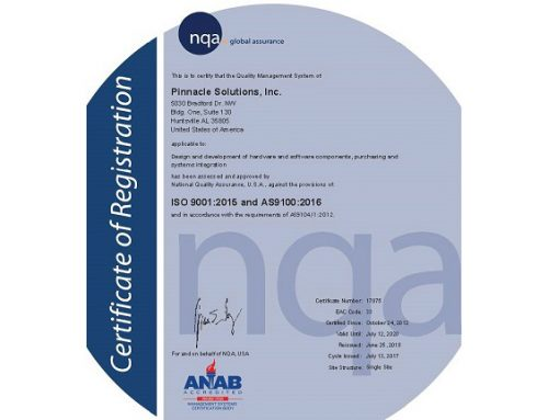 Pinnacle Solutions Achieves AS9100D Certification