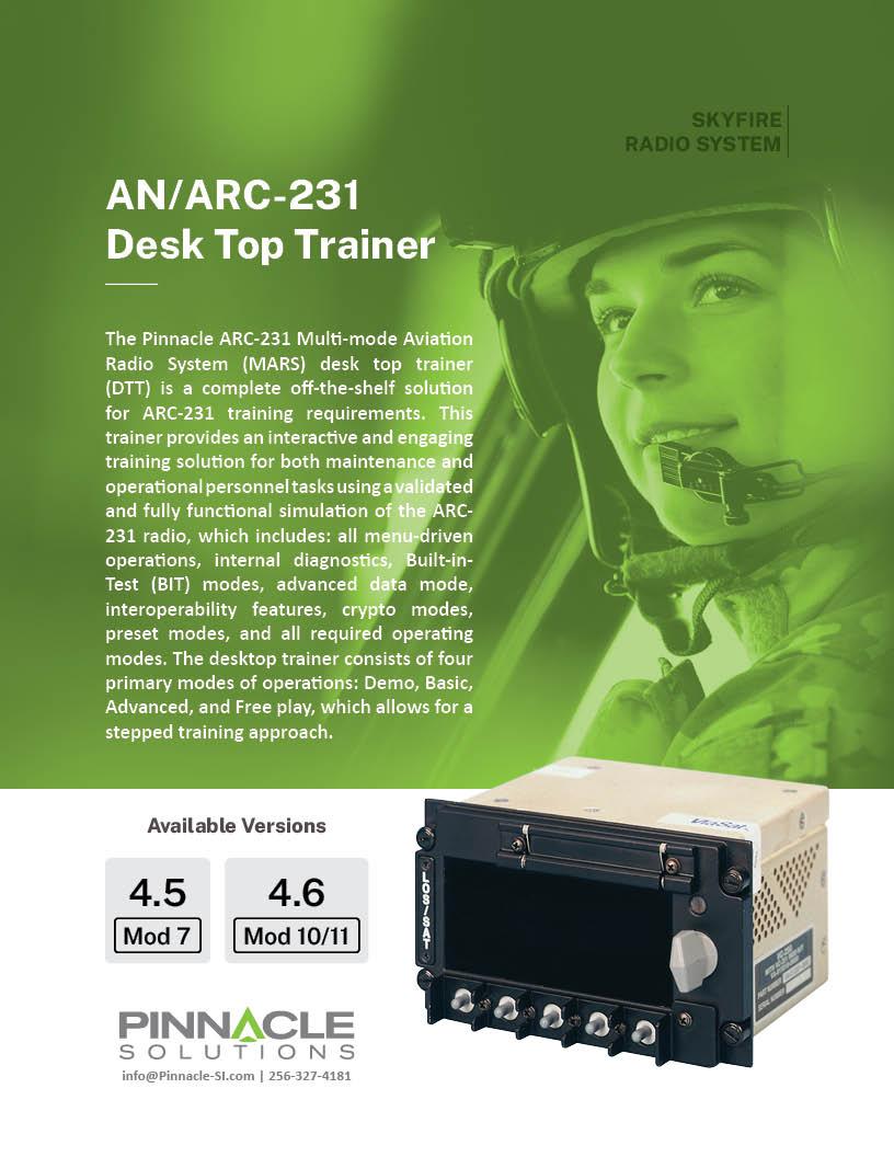 ARC-231 Desk Top Trainer (DTT) Brochure Cover