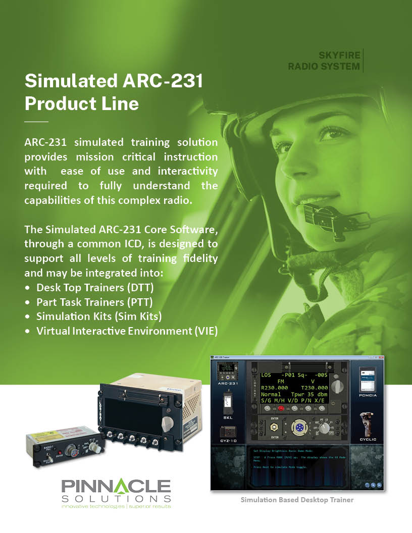 ARC-231 Product Line Brochure Cover